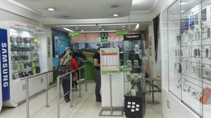 Queue at an M-Pesa agent