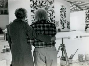 Francis with his stepmother, Virginia Francis, in Broadway studio, Santa Monica. (Photo by Kurt Blum, Praz, Switzerland.)