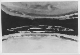 <em>Untitled</em>, 1952, ink wash on paper, 13 1/2 x 20 1/4 in.