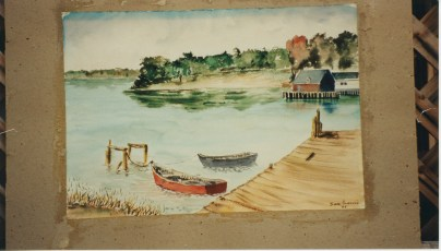 <em>Untitled (Late Summer Another View)</em>, 1945, watercolor on paperboard, 14 x 20 in.
