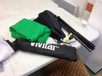 The kit used for green screen