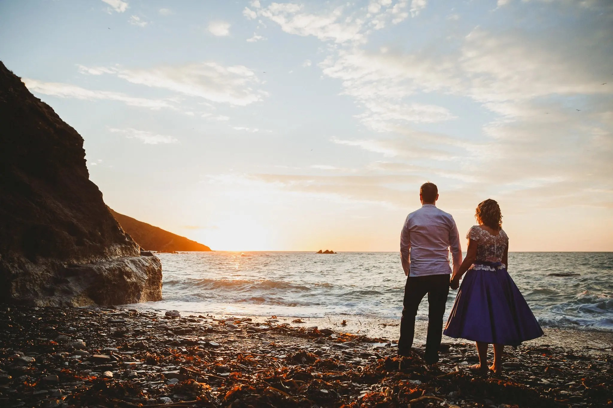 sunset at tunnels beaches wedding