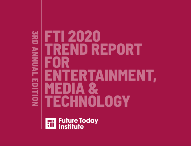 Cover of the 2020 Future Today Institute trend report for journalists.