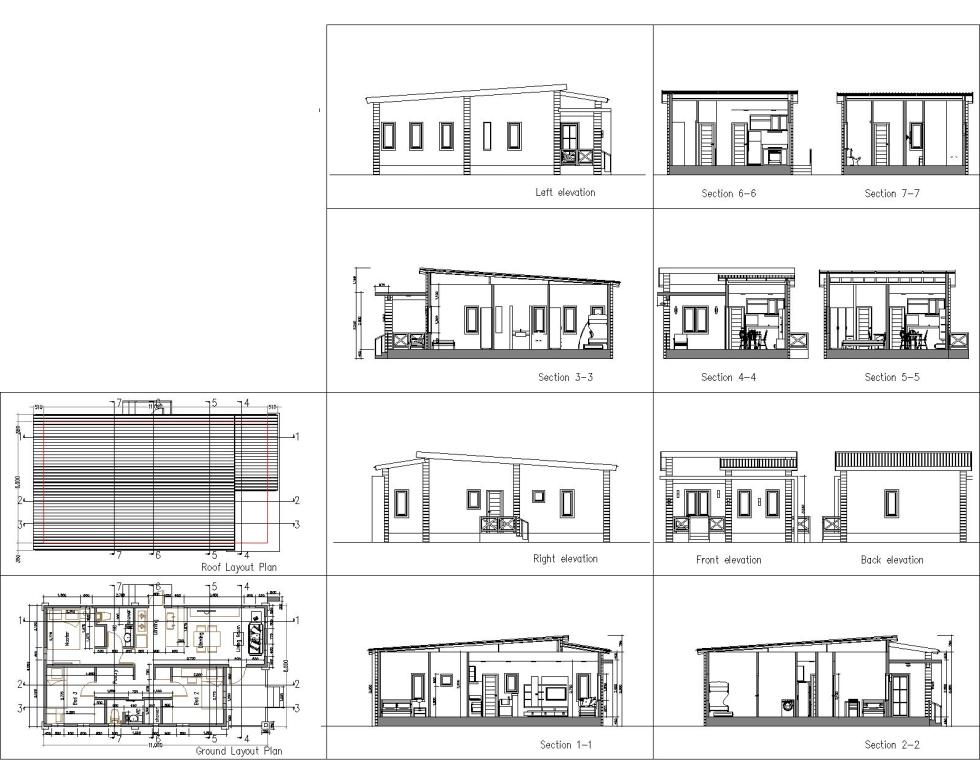 Low Budget Home Plan 6x11 Meter 3 Bedrooms detailing