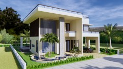 House Plan 13.5x19.8m with 4 Bedrooms 1
