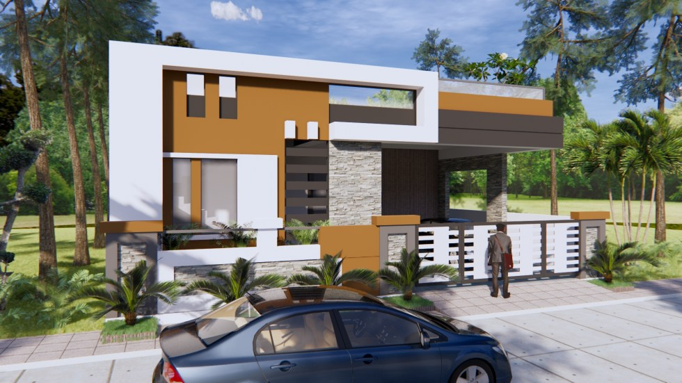 Home Design 40x60F with 4 Bedrooms 1