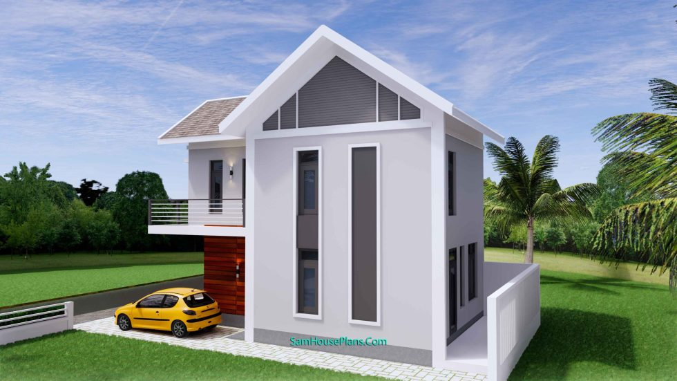 Sketchup Home Design Plan 6.5x9m with 2 Bedrooms 5