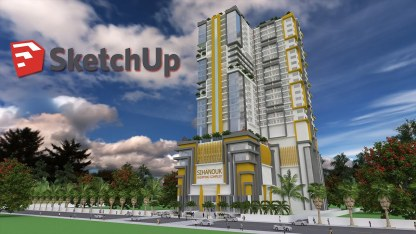 Sketchup 32 Level Apartment Building