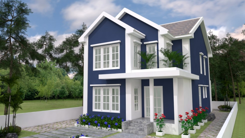 House Plans 7x14 with 3 Bedrooms 4