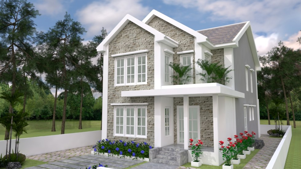 House Plans 7x14 with 3 Bedrooms