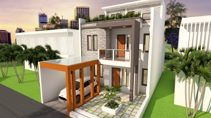 House Plans 7x17 with 5 Bedrooms