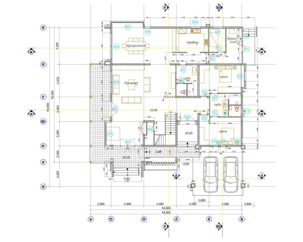 House Plans 18x19 with 5 Bedrooms