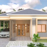 House Plans 10x11 with 3 Bedrooms Roof tiles 6