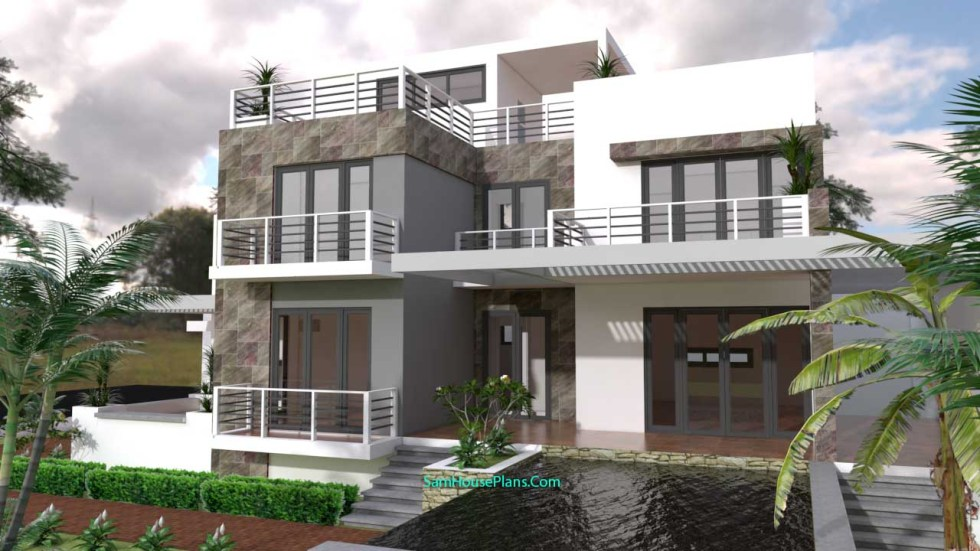 House Plans 10x16 with 3 Bedrooms 2