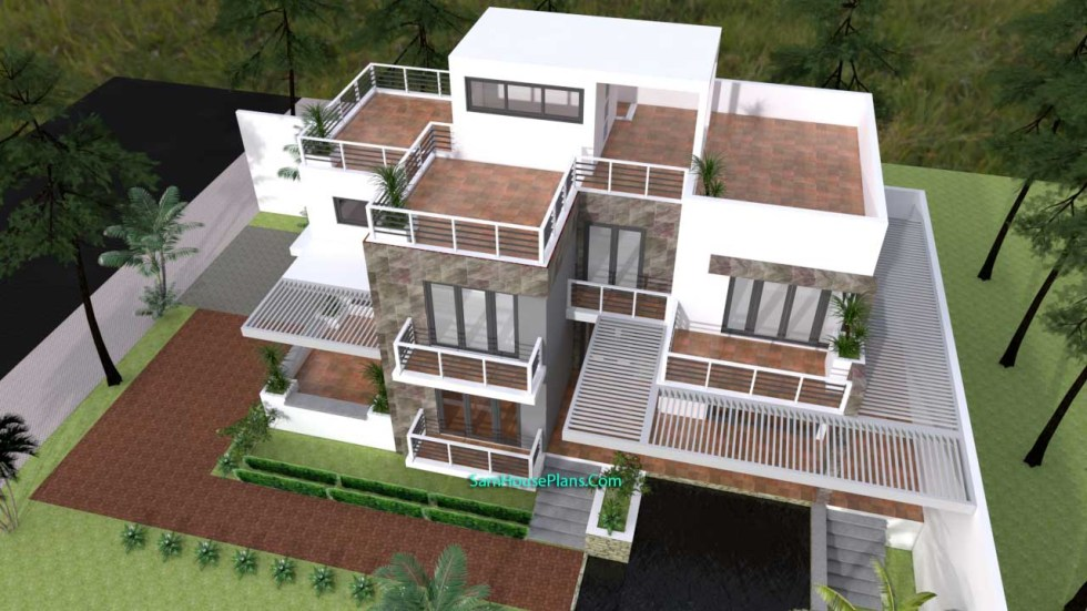 House Plans 10x16 with 3 Bedrooms 4
