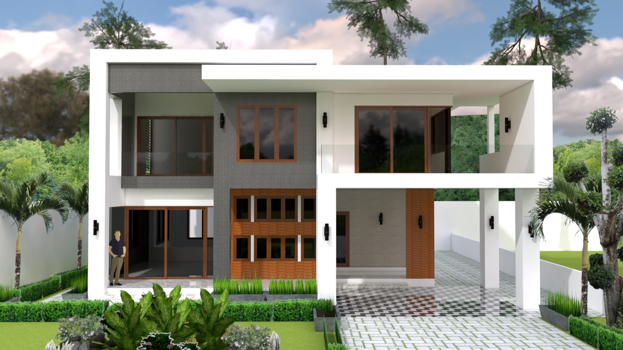 House Plans 13x15 with 4 Bedrooms pdf full plan 1