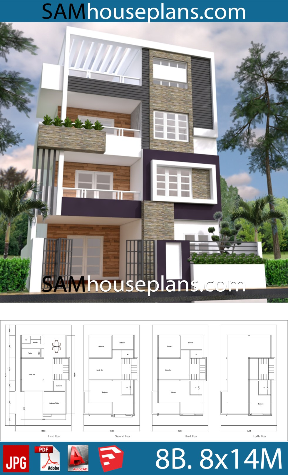 House Plans 8x14 With 8 Bedrooms Samhouseplans