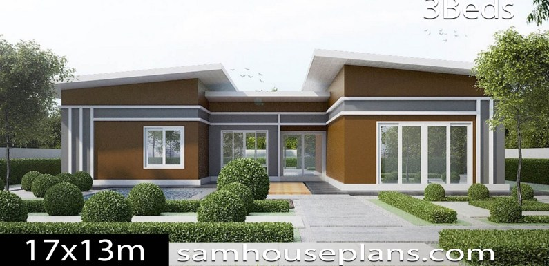 House Plans Idea 17×13 with 3 Bedrooms