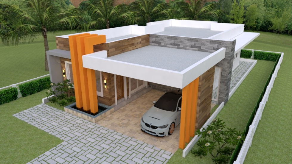 House Plans 10x18 with 3 bedrooms Full Plans
