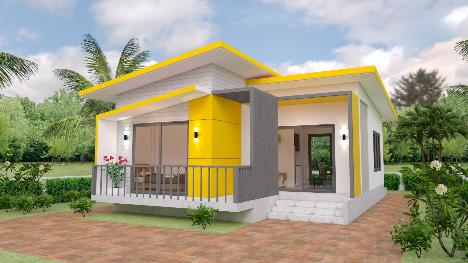House Plans 7.5x11 with 2 Bedrooms Full plans 1 - Download Two Bedroom Small Simple Small House Designs Pictures