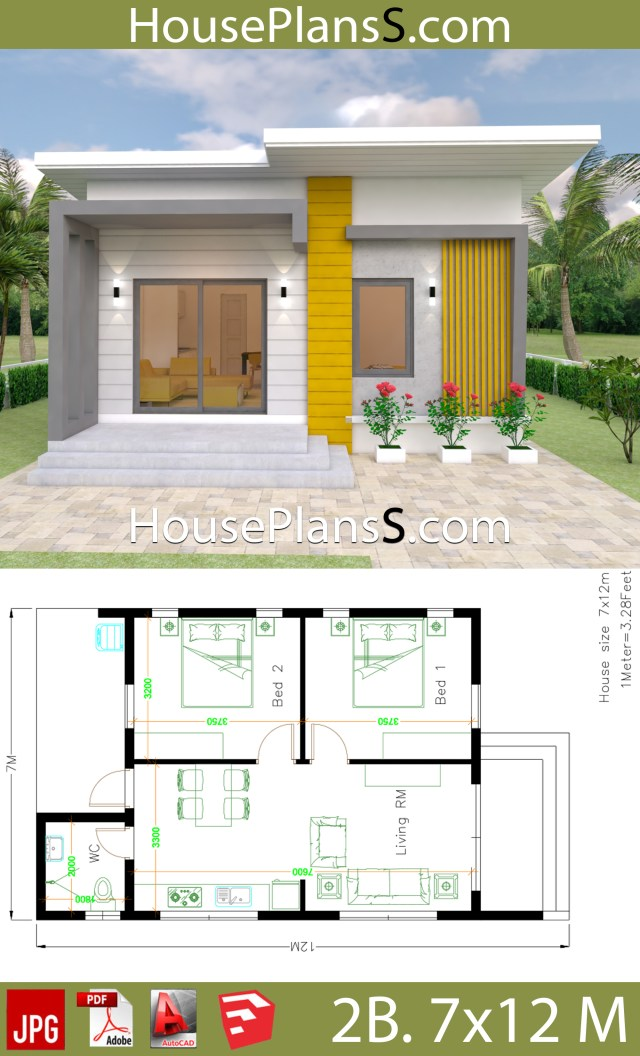 House Design Plans 7x12 with 2 Bedrooms Full Plans on shed house plans, small house plans, great tiny house plans, home floor plans, cottage floor plans, tiny house plans 20x20, tiny houses one story, shipping container floor plans, architecture floor plans, travel trailer floor plans, tiny houses on wheels, studio floor plans, cabin house plans,