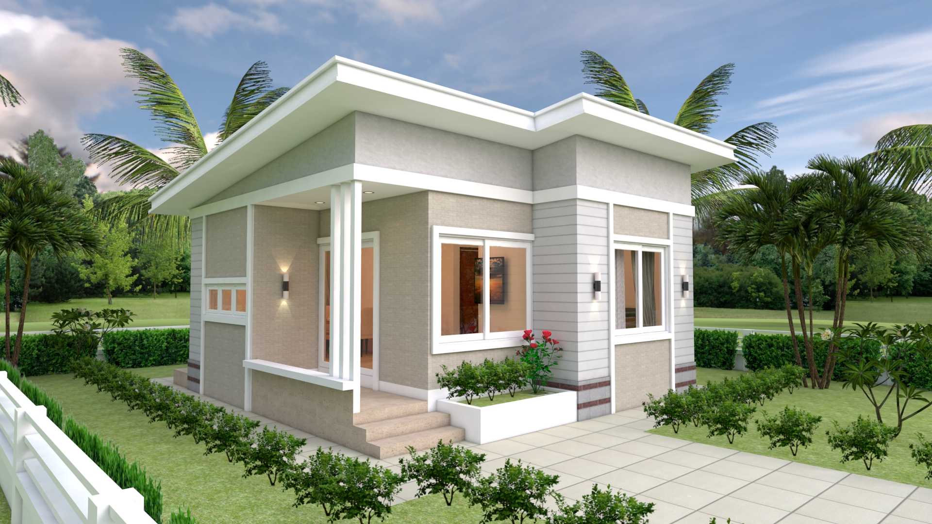 House Design Plans 7x7 with 2 Bedrooms Full Plans - Sam ...