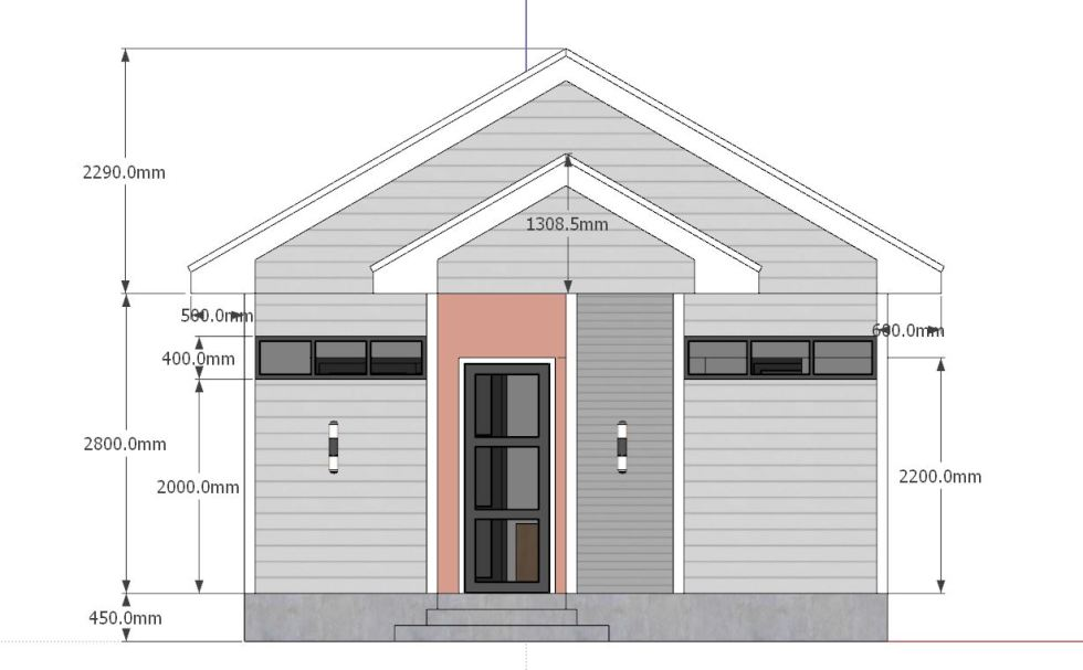 Studio House Plans 6x8 Gable Roof