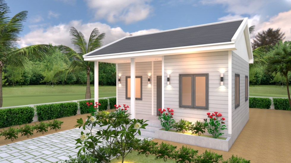 House Plans 7x6 with One Bedroom Gable Roof