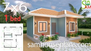 House Plans 7x6 with One Bedroom Hip Roof