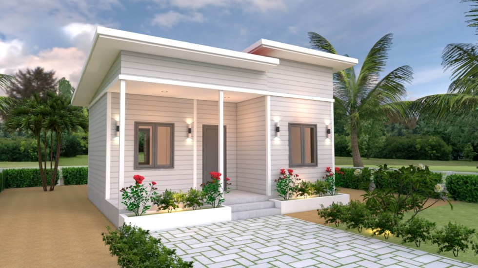 House Plans 7x6 with One Bedroom Shed Roof