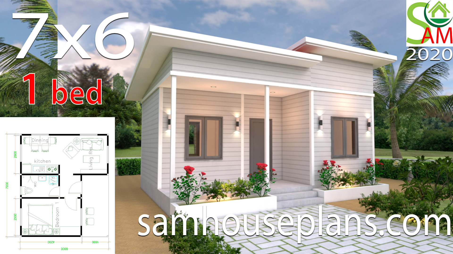 House Plans 7x6 With One Bedroom Shed Roof Samhouseplans