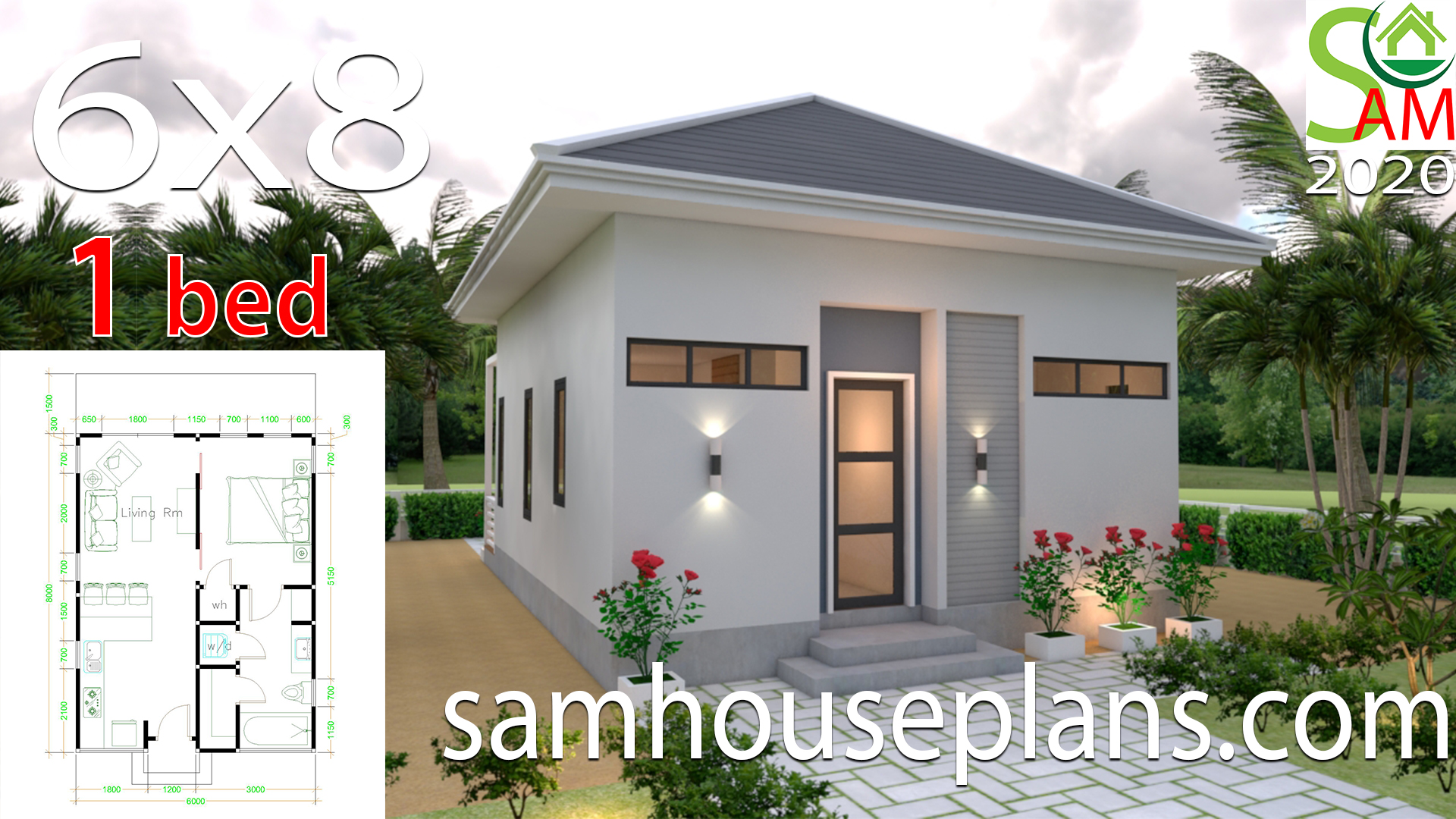 Studio House Plans 6x8 Hip Roof Samhouseplans