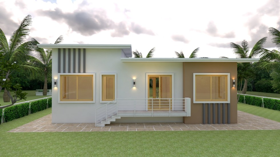 House Plans 12x12 Meter Shed roof 40x40 Feet