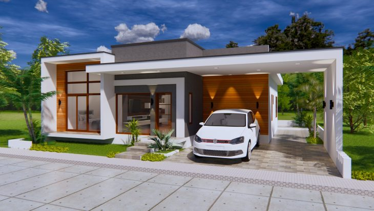 House Plans 15x16 Meter 49x53 Feet 3 Bedrooms