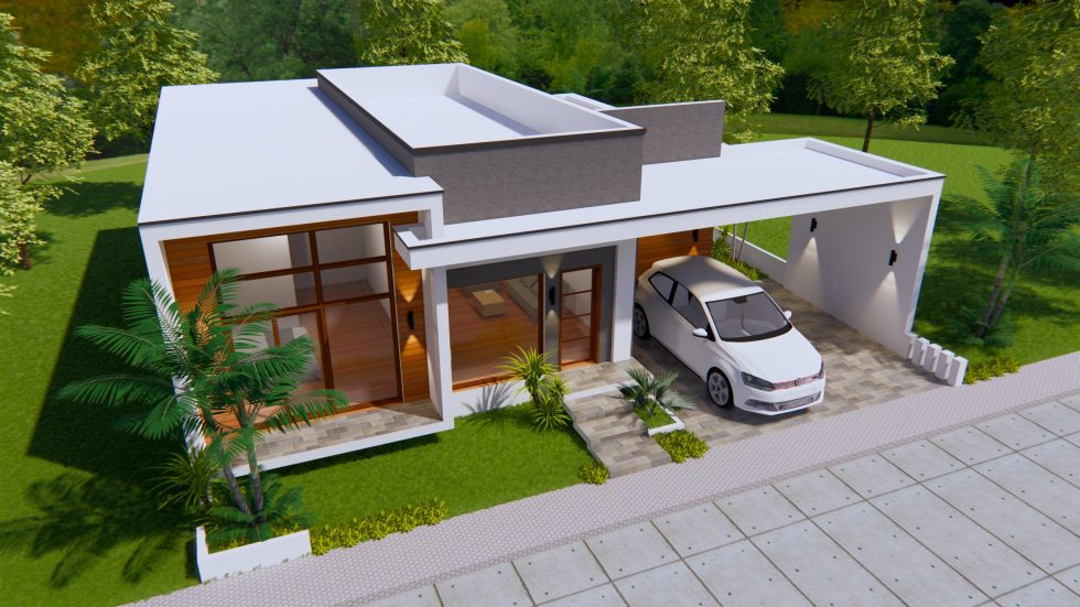 House Plans 15x16 Meter 49x53 Feet 3 Bedrooms
