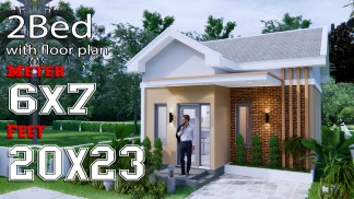 Small House Design 6x7M 20x23F Gable Roof Full Plans