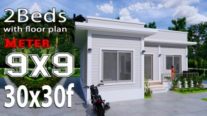 House Plans 9x9 Meters 30x30 Feet Terrace Roof