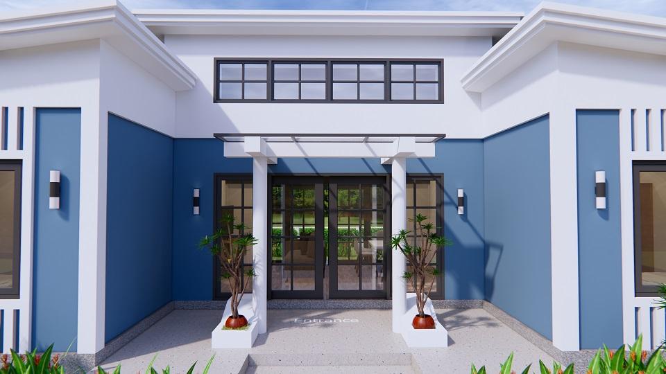 House Plans 13x7.5 Meter 43x25 Feet 3 Beds 7