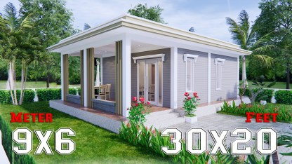 Best Small House Designs 9x6 Meter 30x20 Feet 2 Beds