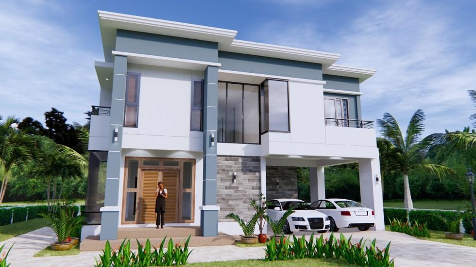 Home Plans 11x8 Meter 36x26 Feet 3 Beds 1