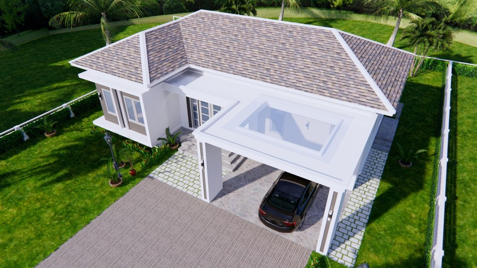 House Plans 14x11 Meter 46x36 Feet 3 Beds 4