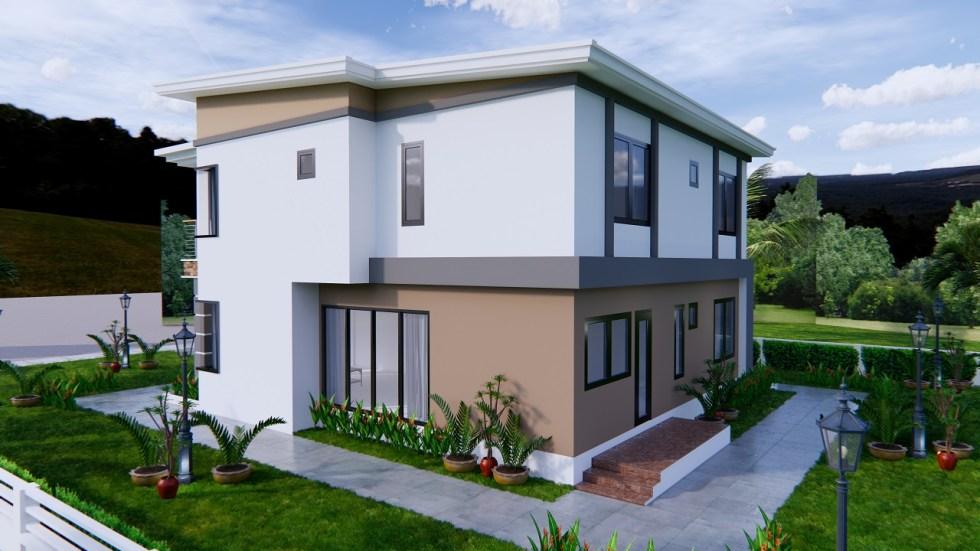 House Plans 9x11 Meter 30x36 Feet 4 Beds 4