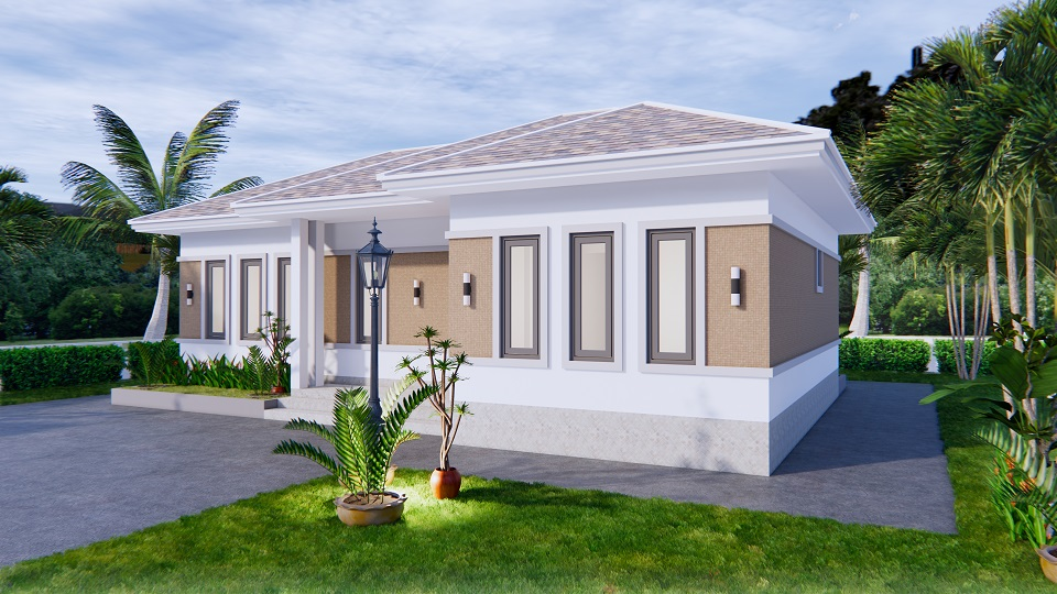 Modern Farmhouse Designs 12x8 Meters 40x26 Feet 3 Beds 3