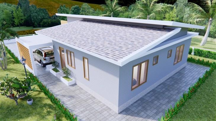 Modern House Design 12x14 Meter 40x46 Feet 2 Beds 6