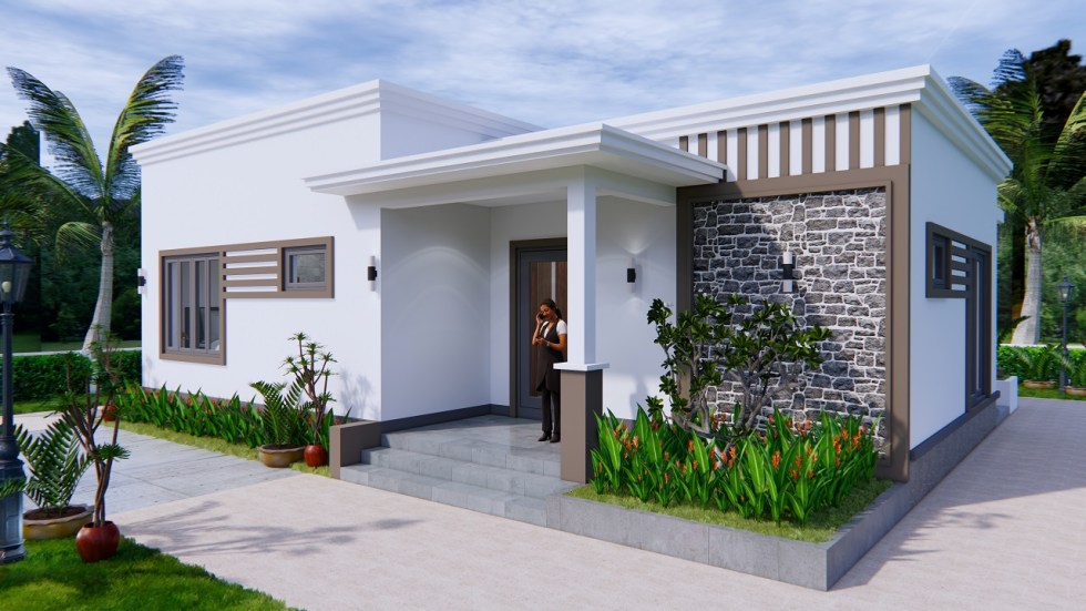 Online House Design 12x9 Meter 40x30 Feet 2 Beds 1