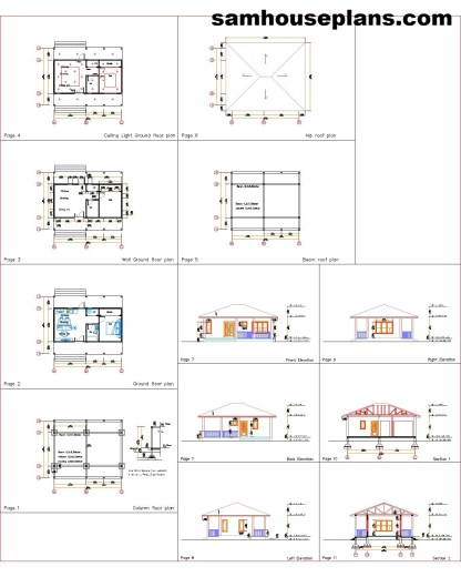 31x16 House design Plans you will recieved