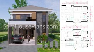 25x40 House Plans 7.5x11.7 Meter 4 Bedrooms