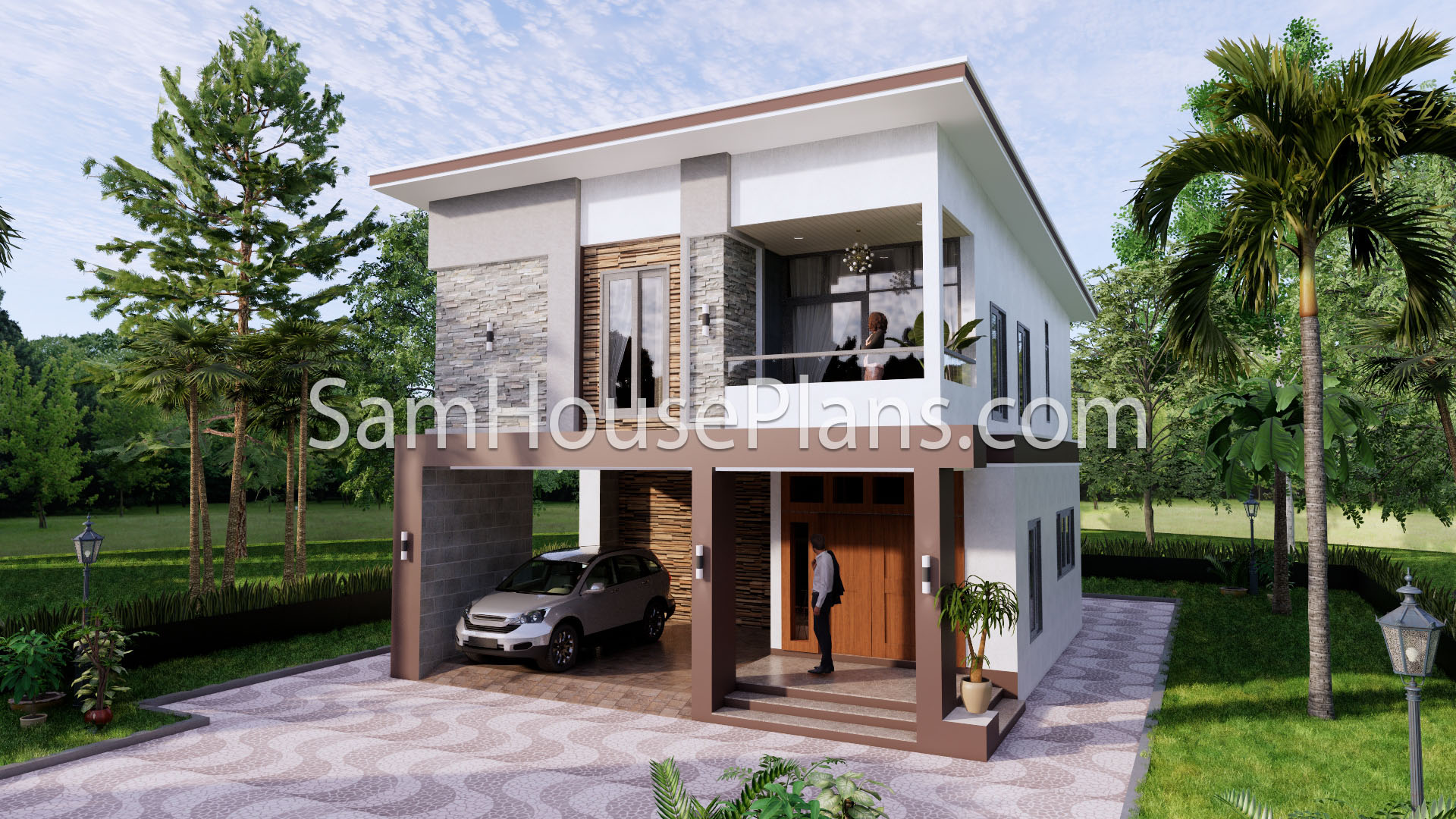 27x40 House Plans 8x10 Meters 4 Bedrooms 1