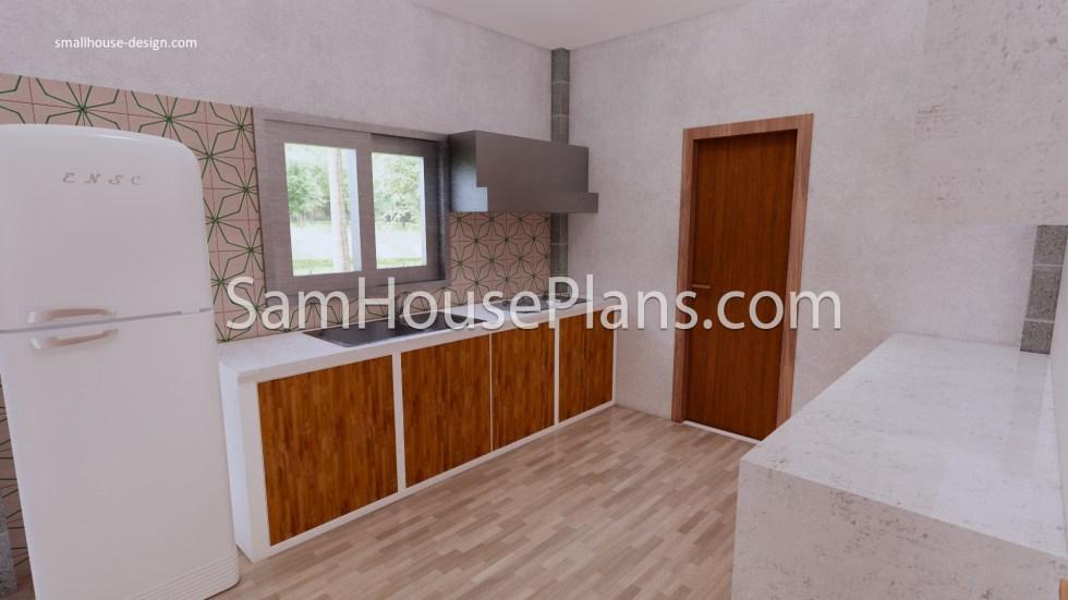 27x40 House Plans 8x10 Meters 4 Bedrooms Kitchen
