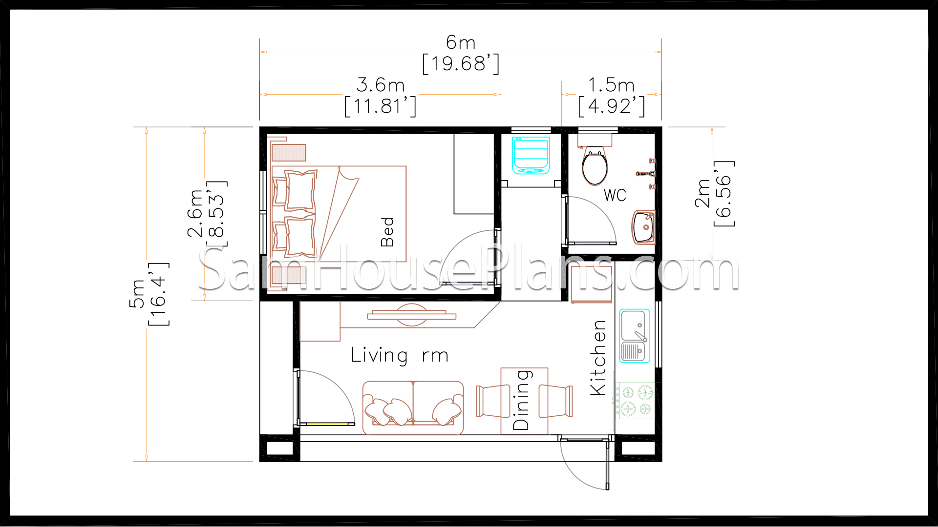 5x6 small house plans